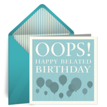 Birthday Oops card image