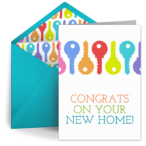 New Home Congrats card image