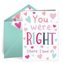 You Were Right Mom card image
