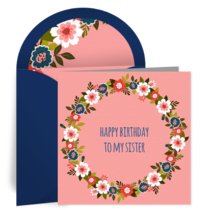 Flower Wreath for Sister card image