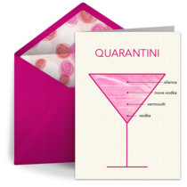 Birthday Quarantini card image