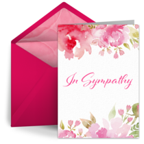 In Sympathy card image