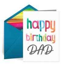 Happy Birthday Dad card image