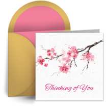 Sympathy Cherry Blossoms card image