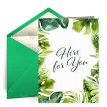 Here For You Greenery card image