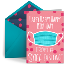 Distance Birthday card image