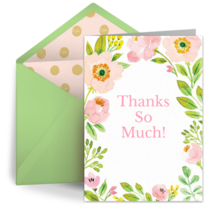 Spring Blossom Thanks card image