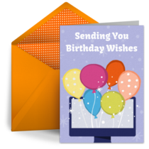 Virtual Birthday Greeting card image