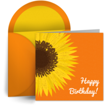 Happy Birthday Sunflower card image