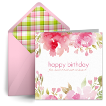 Far Apart Birthday card image
