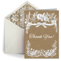 Paper Floral Thank You card image
