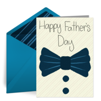 Father's Day Bow Tie card image