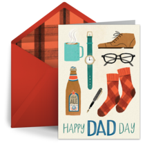 Dad Day Collage card image