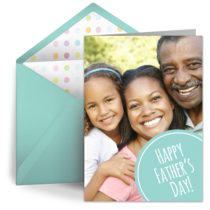 Father's Day Photo Dot card image