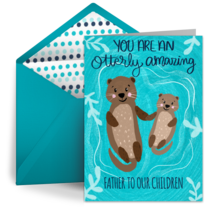 Otterly Amazing Father card image