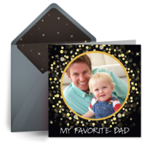 My Favorite Dad Photo card image