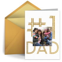 No. 1 Dad Photo card image