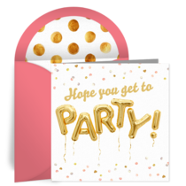 Gold Birthday Balloons card image