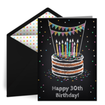 Milestone Birthday card image