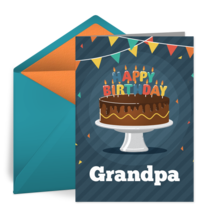 Birthday for Grandpa card image