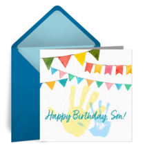 Happy Birthday Handprints card image