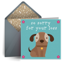 Dog Sympathy card image