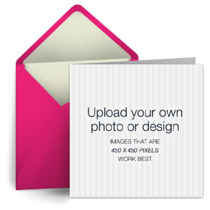 Upload Square - Pink card image