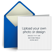 Upload Square - Blue card image