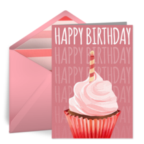 Birthday Cupcake Treat card image
