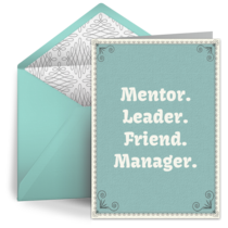 Manager Thank You card image