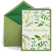 Boss Greenery Pattern card image