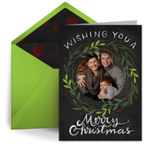 Chalkboard Christmas Photo Frame card image