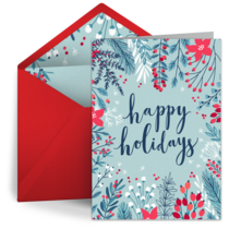 Illustrated Holidays card image