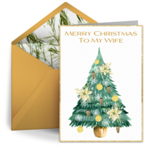 Merry Christmas To My Wife card image