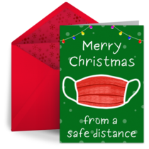 Safe Distance Merry Christmas card image