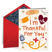Medic Thankful For You card image
