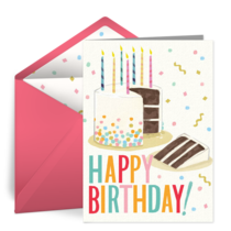 Happy Birthday Sprinkle Cake card image