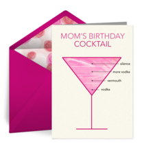 Quarantini Birthday card image