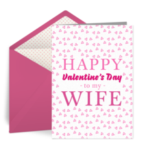 Wife Valentine card image