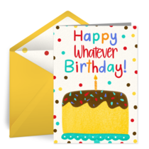 Milestone Whatever Birthday Cake card image