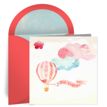 Bon Voyage Balloon card image
