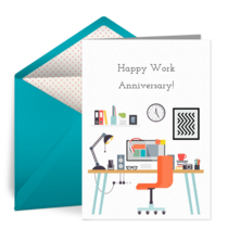 Work Anniversary Congrats card image