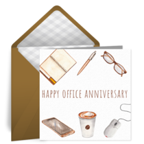 Happy Office Anniversary card image
