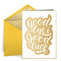 Goodbye & Good Luck card image