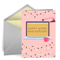 Virtual Work Anniversary card image