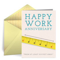 Distanced Work Anniversary card image