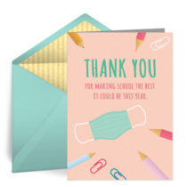 Thank You to Our Teacher card image
