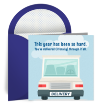 Delivery Truck Thanks card image