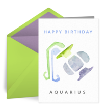 Zodiac - Aquarius card image