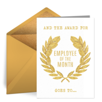Employee of the Month card image